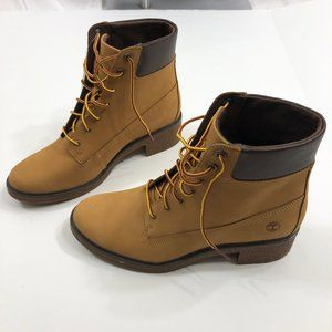 "NWT Timberland Brinda 6"" Leather Lace-Up Boot 8.5"